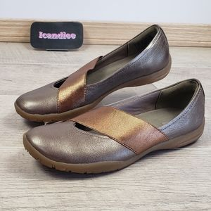 Clarks Collection Bronze Metallic Flats Shoes
